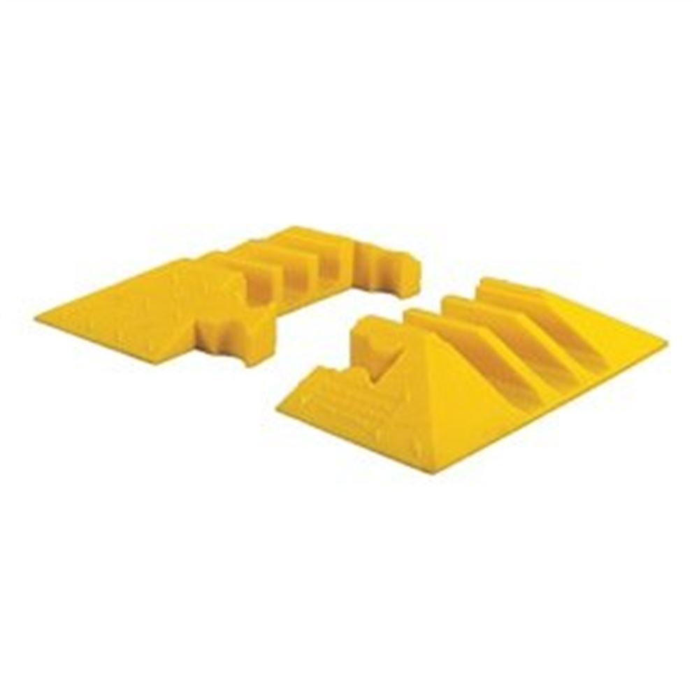 YJ3EB-225-Y 3-Channel Yellow Jacket Cable Protector End Caps for 2-18 Diameter Cables