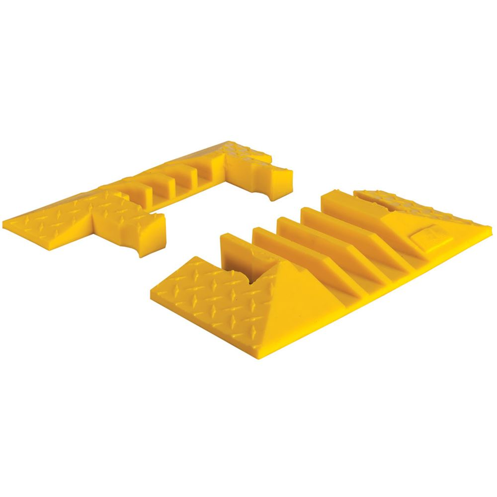 YJ4EB-125-Y 4-Channel Yellow Jacket Cable Protector End Caps for 1-14 Diameter Cables