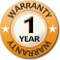 1 Year Warranty