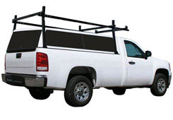 Pickup truck with rack