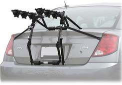 Hatchback and trunk bike racks