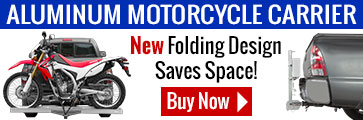 Folding aluminum motorcycle carrier