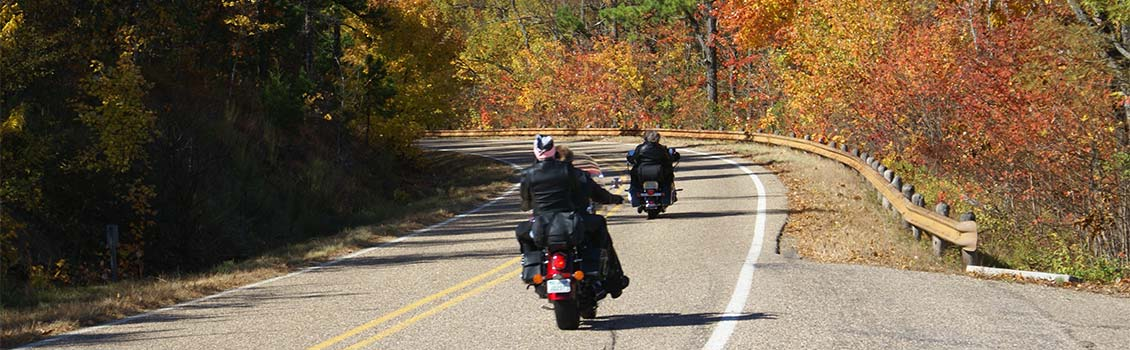 Motorcycles in fall
