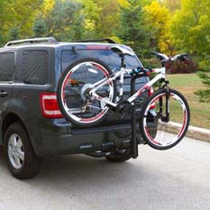 Hitch-mounted bike rack