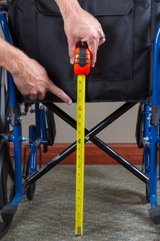 Back of wheelchair seat measurements