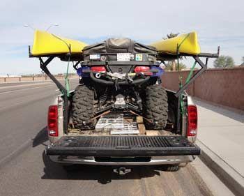 Dual half width truck racks