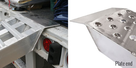 Plate end ramps