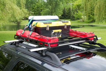 Items in a roof rack