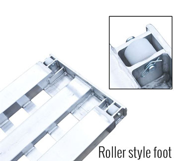 Roller style foor car ramps