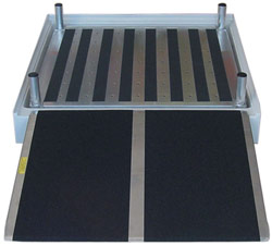 Wheelchair shower platform