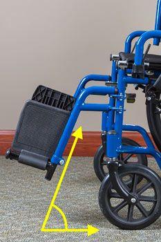 wheelchair hanger angles
