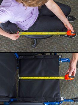 Wheelchair seat depth