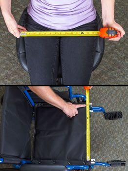 Wheelchair seat width measurements