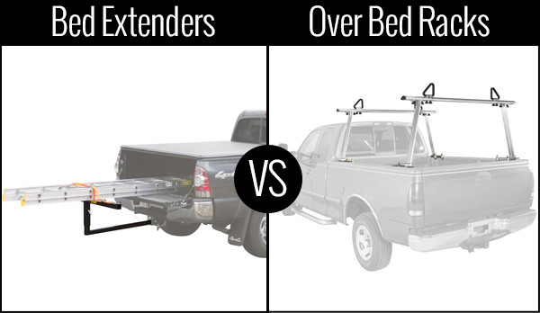 truck bed extender vs truck bed rack