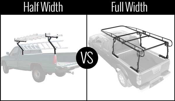 Half vs full width truck racks