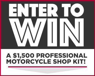 Enter to win a professional motorcycle shop kit, exclusively from Discount Ramps!