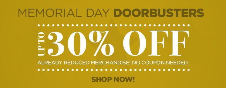 Shop our Memorial Day Doorbusters!