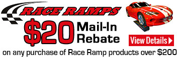 Race Ramp $20 Mail in Rebate Offer on any purchase of Race Ramp products over $200