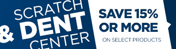 Shop our Scratch & Dent Center