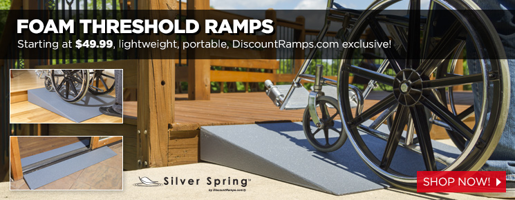 Foam Threshold Ramps - Starting at $49.99