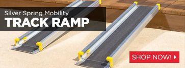 Silver Spring Aluminum Telescoping Wheelchair Track Ramp
