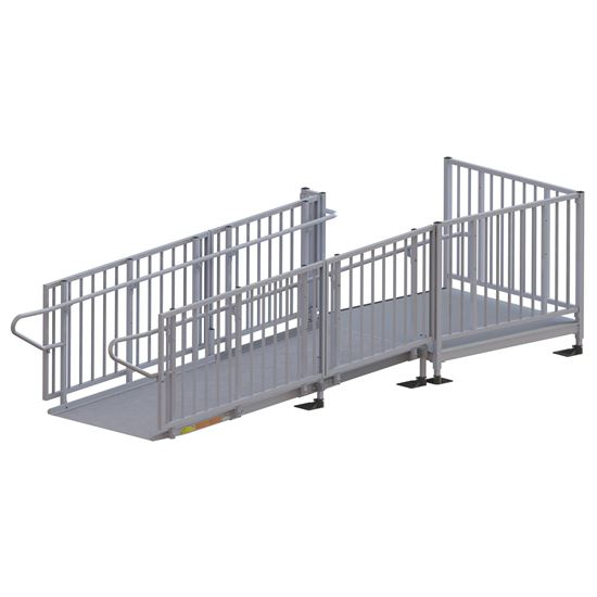 Ez access titan aluminum modular ramps wheelchair ramps for Prefab wheelchair ramp
