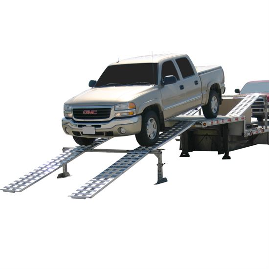 Drop Deck Trailer Ramps For Loading Cars To Heavy Duty Tractors Or Equipment Capacities From 4000 lbs -20,000 lbs