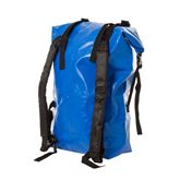 Left angle rear view of the dry bag backpack
