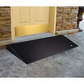 Rubber threshold ramp used at an entryway