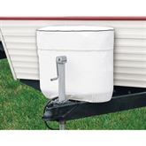 White RV tank cover