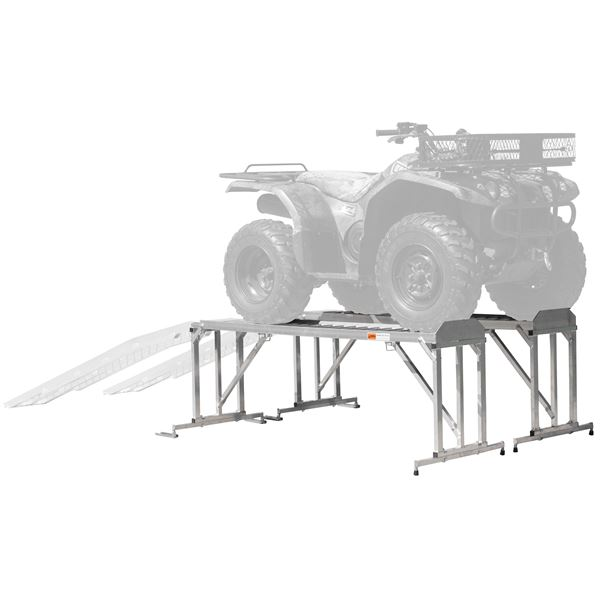 Garden Tractor Work Stand : Atv stand lawn tractor vehicle work station discount ramps