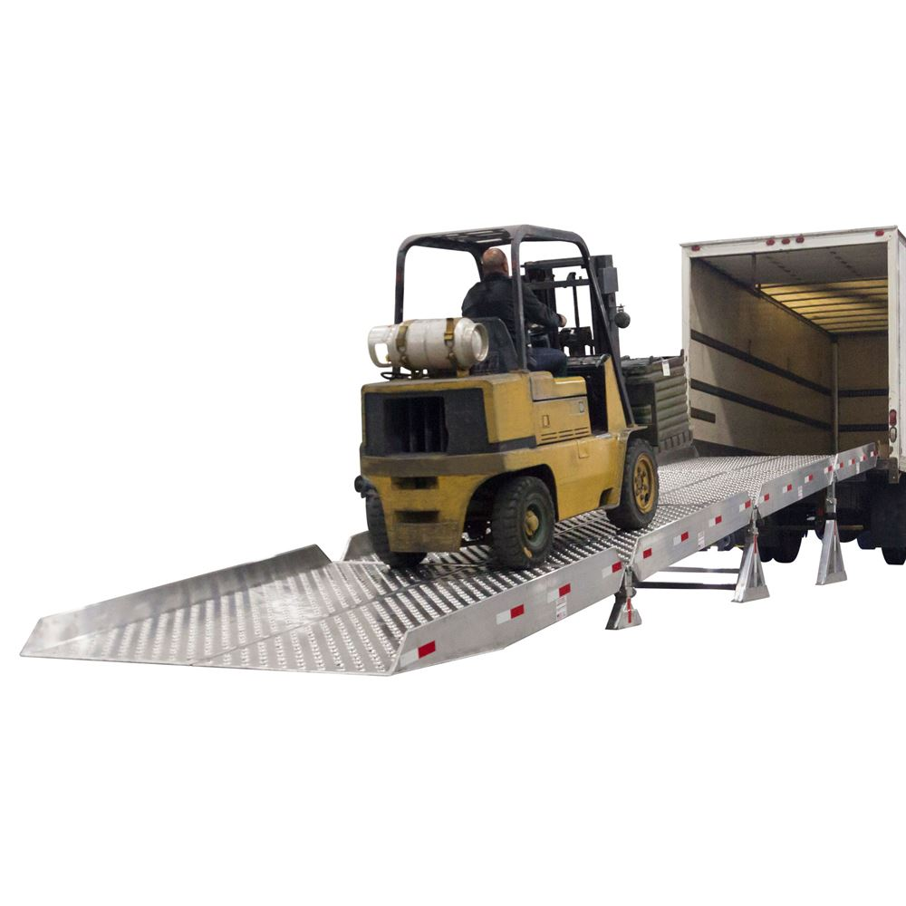 Portable Guard Rails : Portable aluminum yard ramp system with quot safety guard