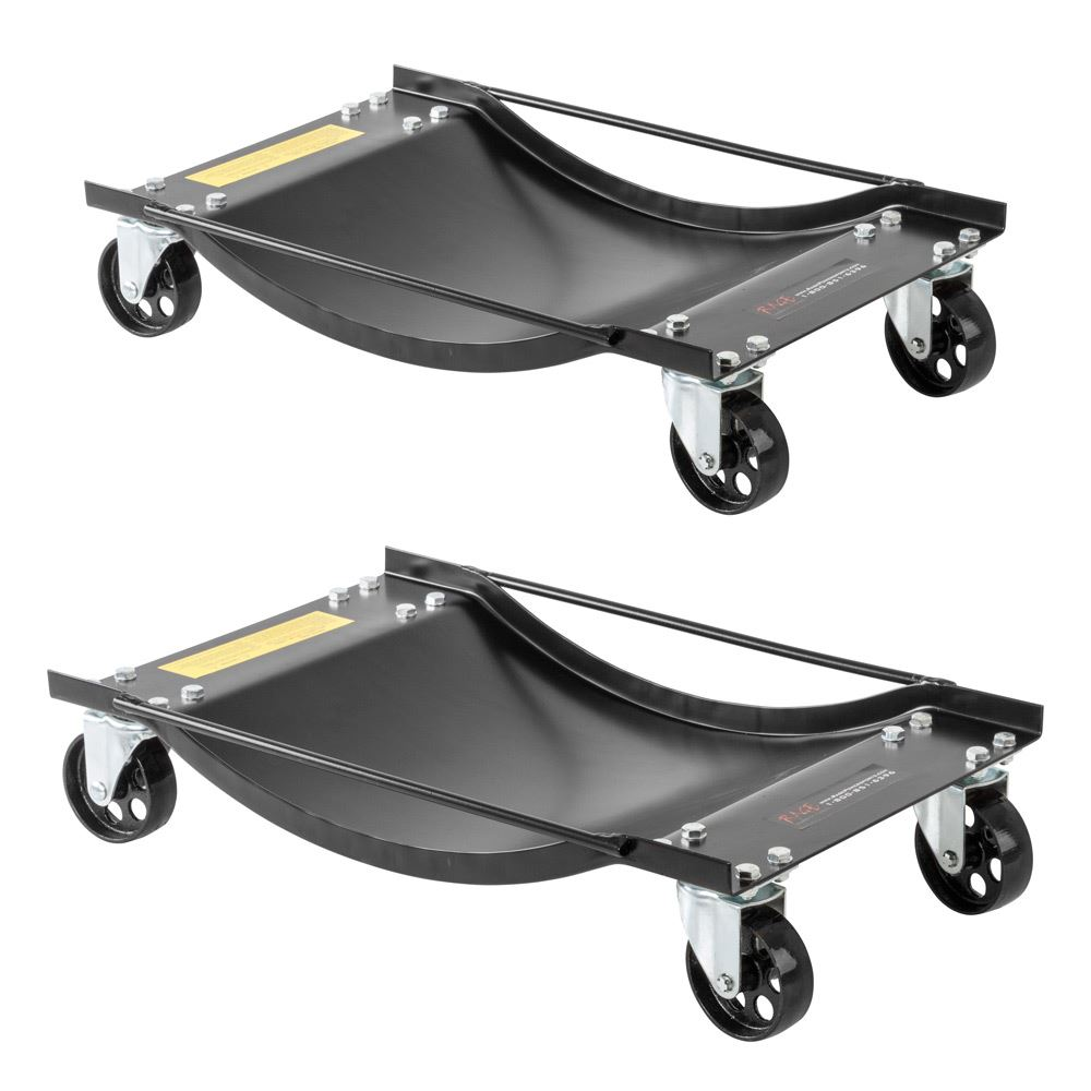 Black Widow Steel Car Wheel Dollies - 1,000 lb Capacity - 2 pack
