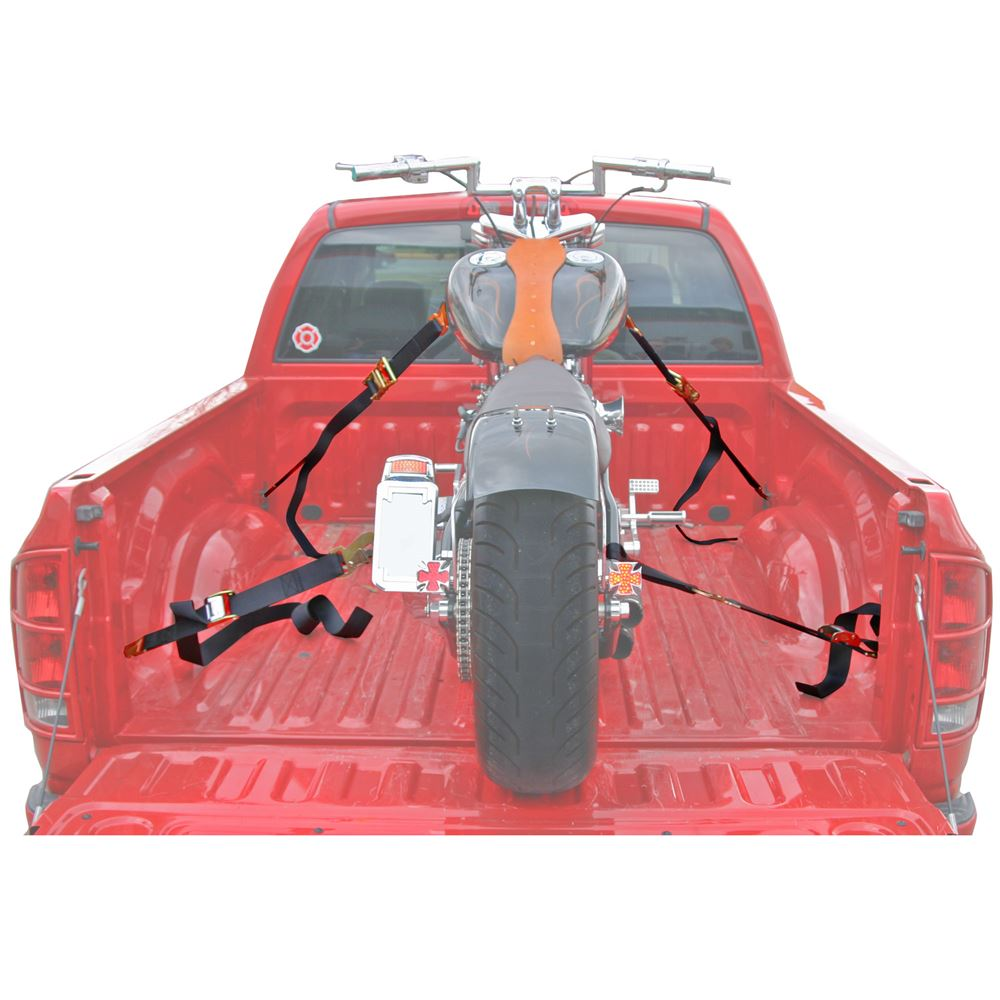 """2"""" x 6' Motorcycle Ratchet Strap Tie Down Kit with Snap Hooks - 8-Pack"""