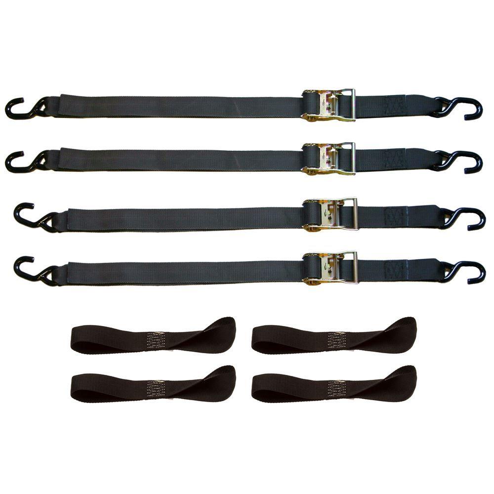 "2"" x 6' Motorcycle Ratchet Strap Tie-Down Kit"