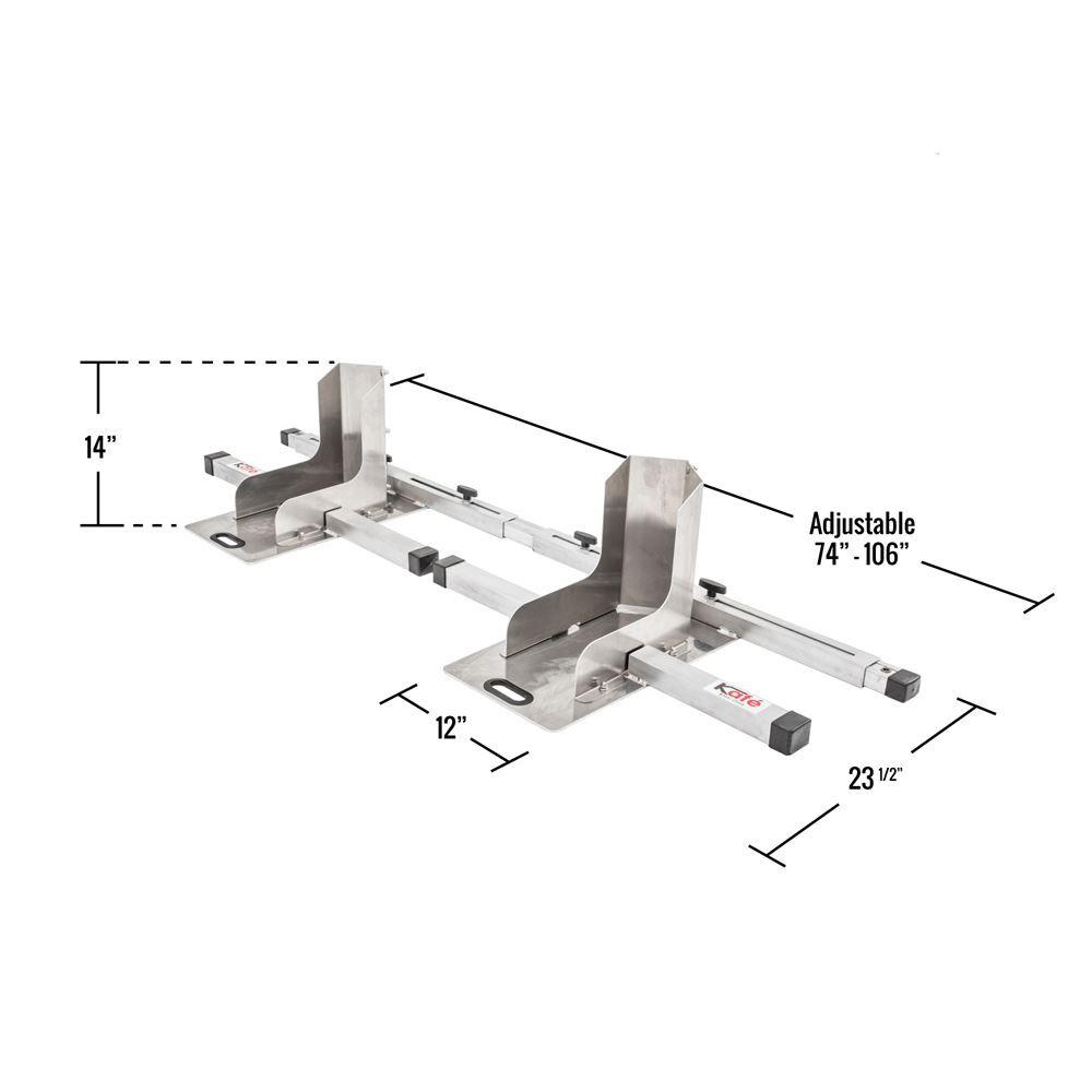 Kafe double wheel chock dimensions