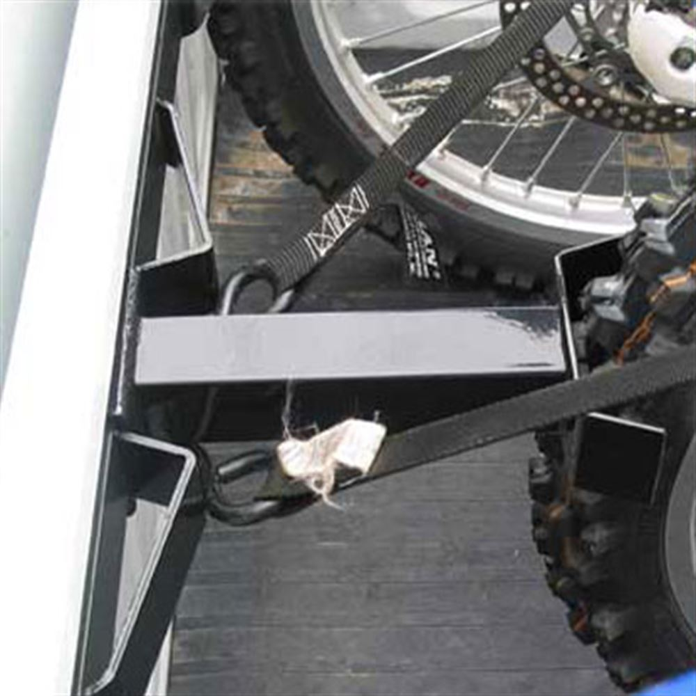 Transport up to 3 dirt bikes with the bed buddy extender