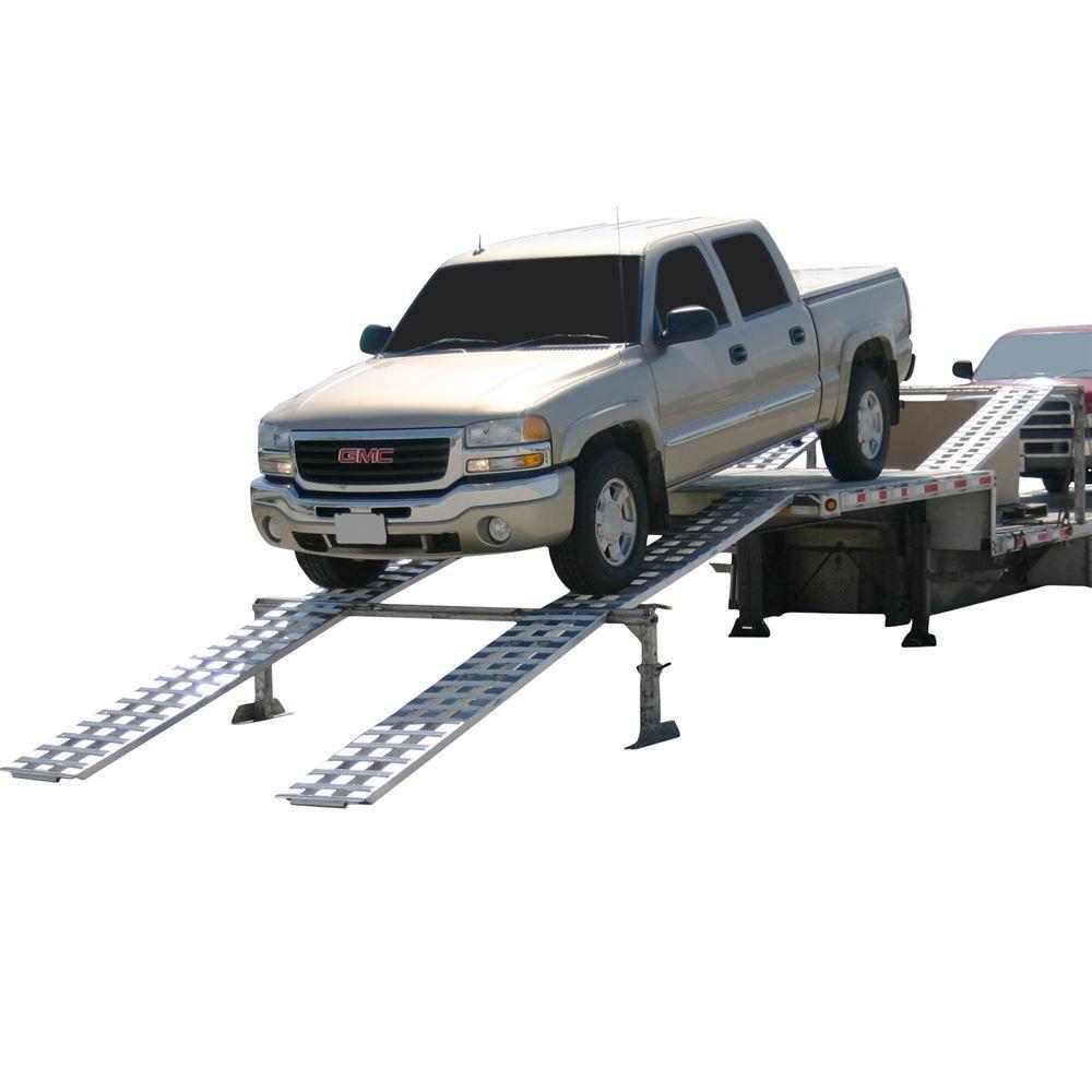 Car Trailer: Drop Deck Trailer Modular Loading Ramps