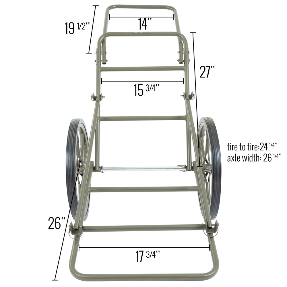 Folded dimensions of the cart