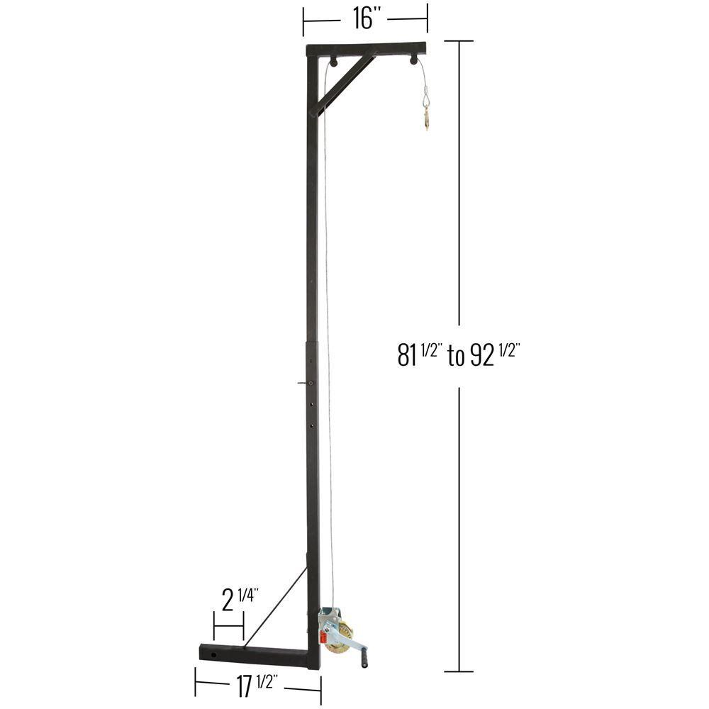 Portable hitch hoist dimensions